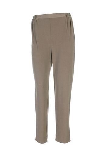 gaia boldetti pantalons femme de couleur marron