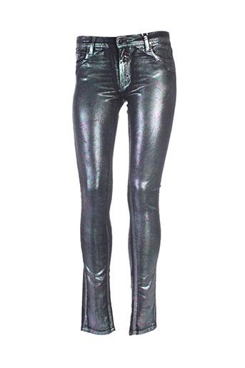 75 faubourg pantalons femme de couleur gris