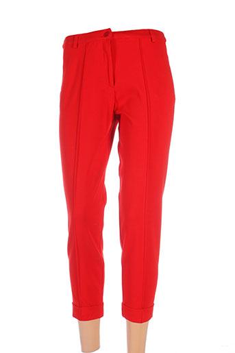 isabel de pedro pantalons femme de couleur rouge