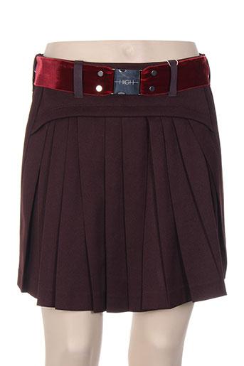 high jupes femme de couleur rouge