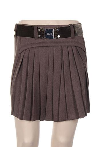 high jupes femme de couleur marron