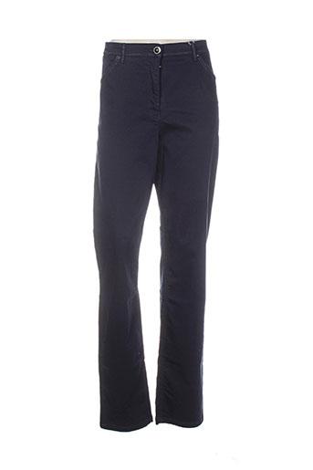 sbelt jeans pantalons femme de couleur bleu