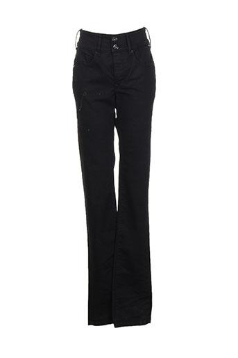 salsa pantalons femme de couleur noir
