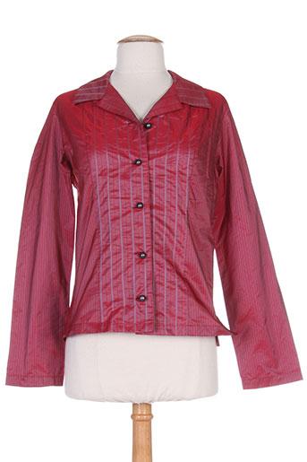 coco menthe chemises femme de couleur rouge