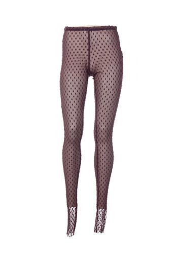 lino factory pantalons femme de couleur violet