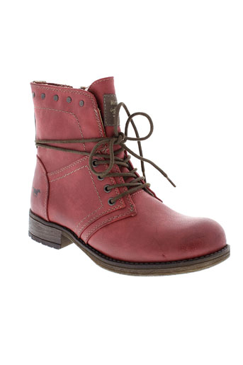 mustang chaussures fille de couleur rouge