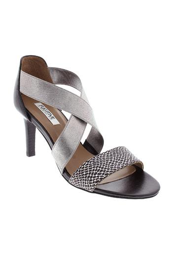 fugitive sandales et nu et pieds femme de couleur gris