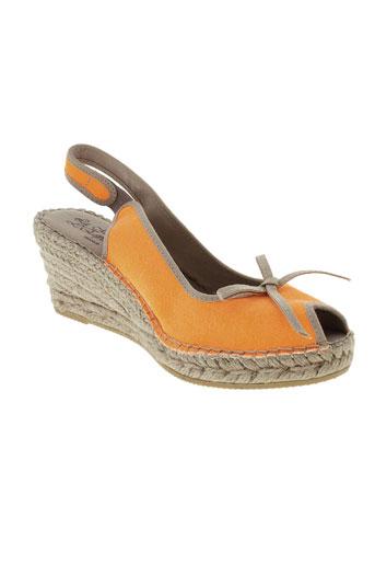 la maison de l'espadrille chaussures femme de couleur orange
