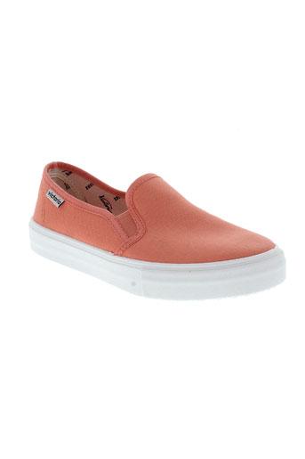 victoria chaussures femme de couleur orange