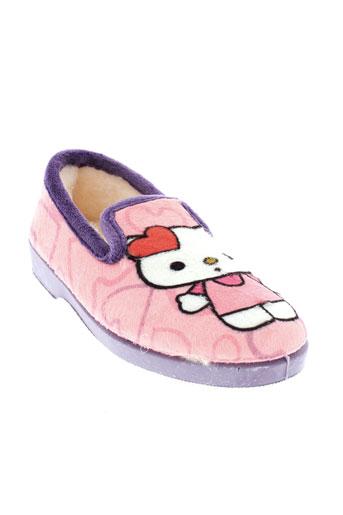 la maison de l'espadrille chaussures fille de couleur rose