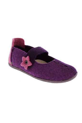 kickers pantoufle fille de couleur violet