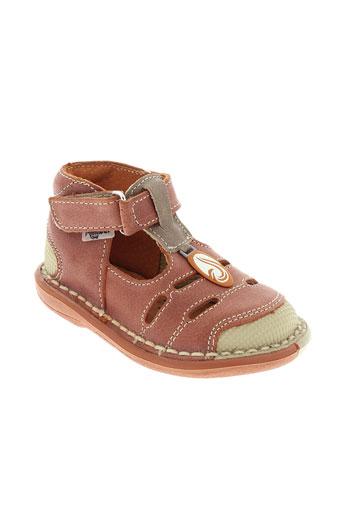 minibel chaussures garçon de couleur orange