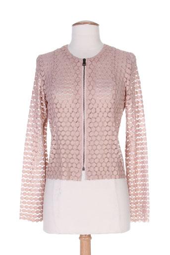 nathalie chaize vestes femme de couleur rose
