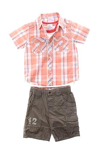 p et tites et canailles t et shirt et pantalon garcon de couleur orange