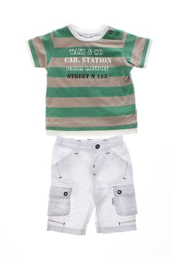 berlingot t et shirt et pantalon garcon de couleur vert
