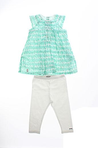 jean et bourget t et shirt et pantalon fille de couleur vert