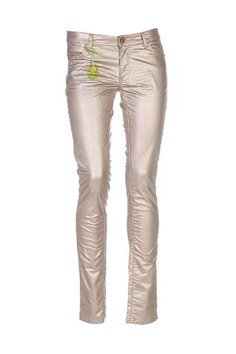 cks pantalons et decontractes femme de couleur beige