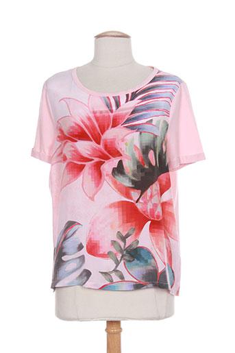 luisa cerano t-shirts femme de couleur rose