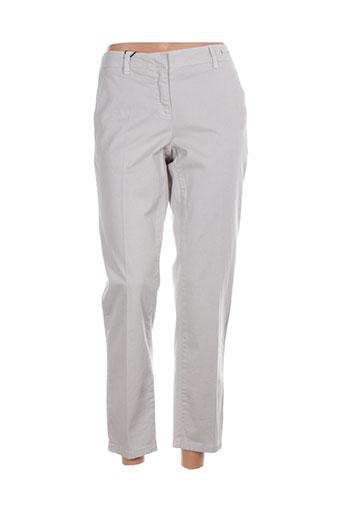 Pantalon 7/8 gris MARELLA pour femme