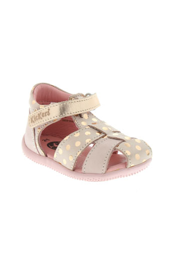 kickers bottillons fille de couleur rose