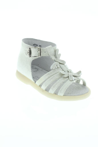 little mary chaussures fille de couleur blanc