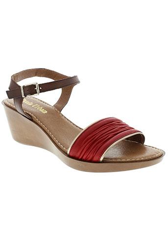 paula et urban sandales et nu et pieds femme de couleur rouge