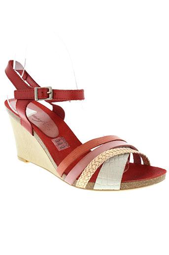 metamorf'ose chaussures femme de couleur rouge