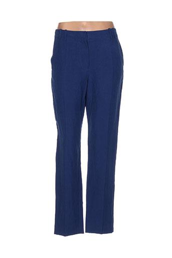 armand ventilo pantalons femme de couleur bleu