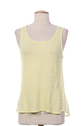 desgaste chemises femme de couleur jaune