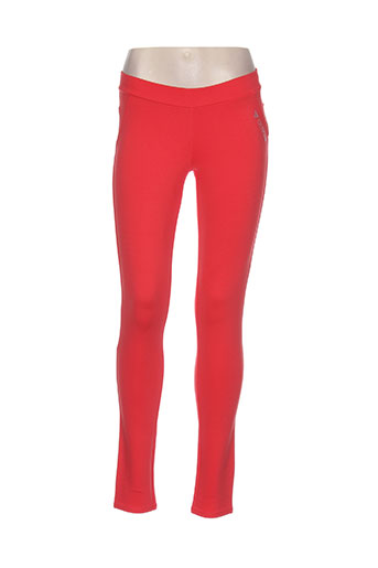 guess pantalons fille de couleur orange