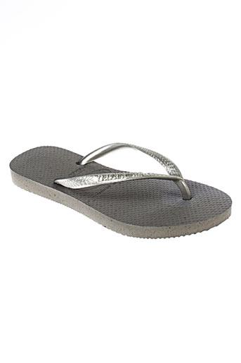 havaianas chaussures enfant de couleur gris