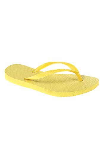havaianas tongs enfant de couleur jaune