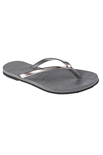havaianas chaussures fille de couleur gris
