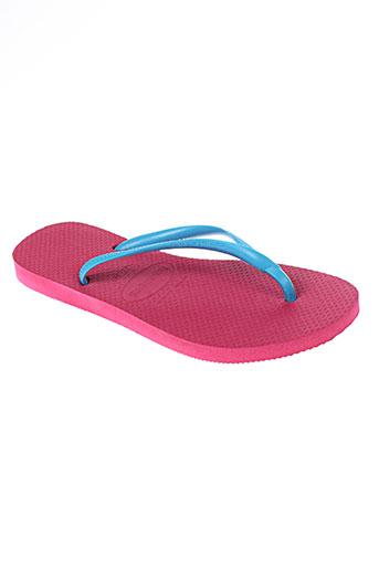 havaianas chaussures femme de couleur rose
