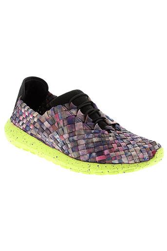 bernie mev chaussures femme de couleur violet