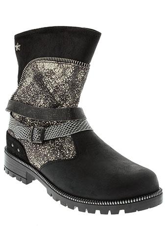 ikks chaussures fille de couleur noir