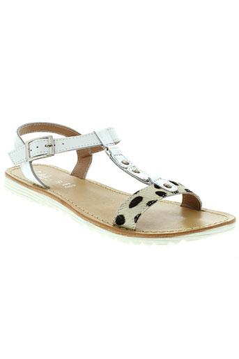 l'atelier tropézien chaussures fille de couleur blanc