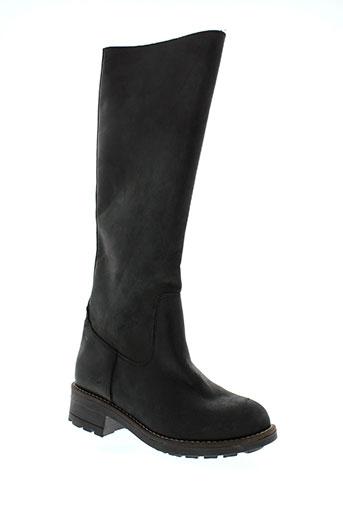 hooper et shoes bottes femme de couleur noir