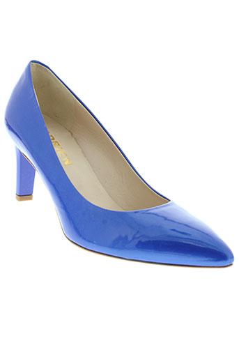 adrien escarpins femme de couleur bleu