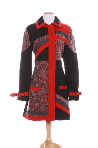 bamboo et s manteaux et longs femme de couleur rouge