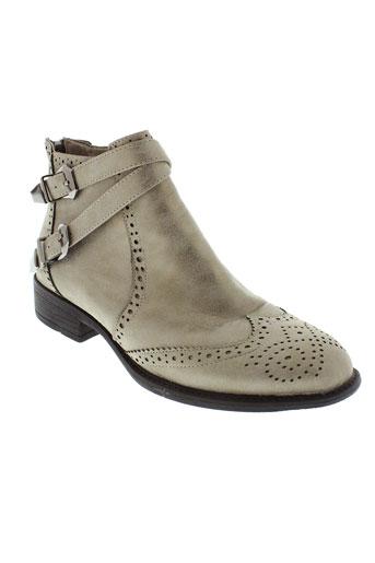 la et bottine et souriante boots femme de couleur gris