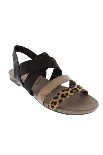 marco et tozzi sandales et nu et pieds femme de couleur noir