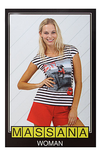 massana pyjashorts femme de couleur rouge