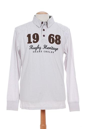 grand chelem t-shirts homme de couleur blanc