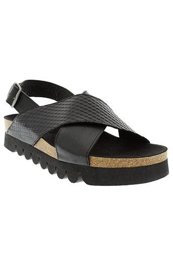 apple et of et eden sandales et nu et pieds femme de couleur noir