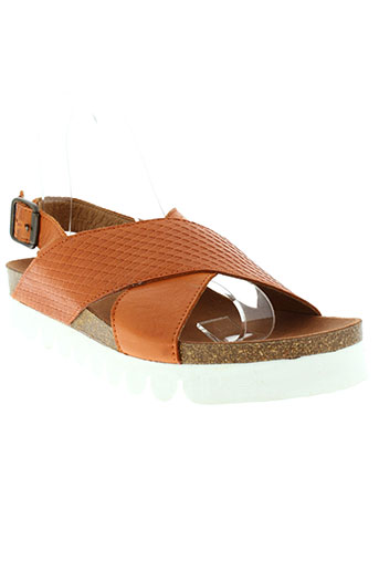 apple et of et eden sandales et nu et pieds femme de couleur orange