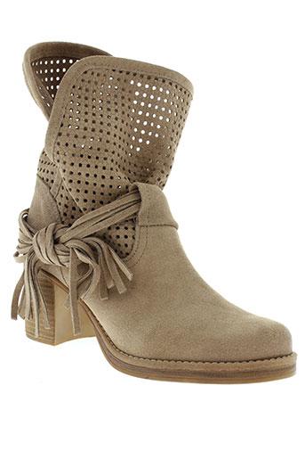 mtng boots femme de couleur beige