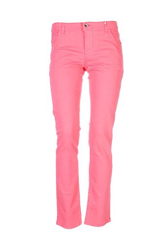 pianurastudio pantalons et decontractes femme de couleur rose