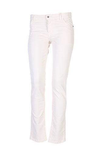 pianurastudio pantalons femme de couleur beige