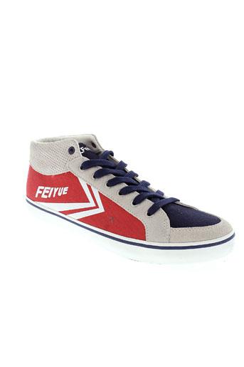 feiyue chaussures homme de couleur rouge